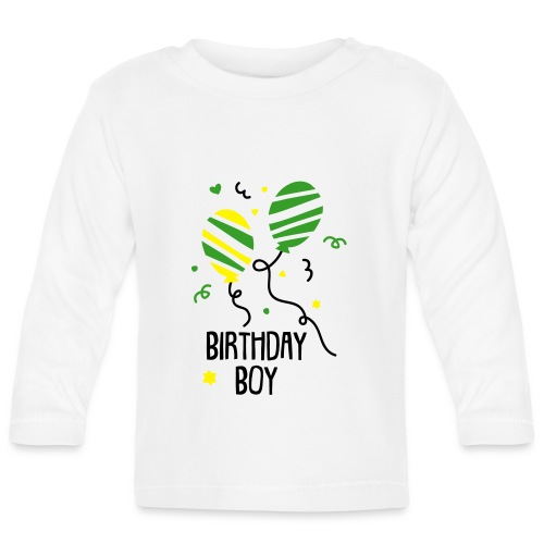 Birthday Boy (3 bis 18 Monate)  - Baby Langarmshirt