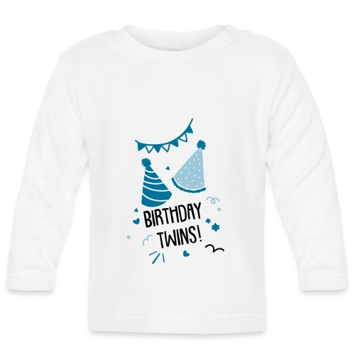 Birthday Twins (3 bis 18 Monate)  - Baby Langarmshirt