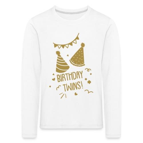 Birthday Twins (GOLD): Grösse 98-140 - Kinder Premium Langarmshirt