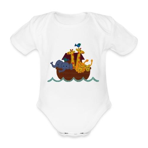Arche Noah auf Baby Body - Baby Bio-Kurzarm-Body