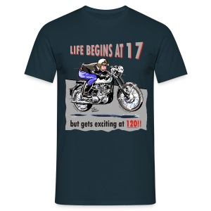 Classic Life begins at 17 - Men's T-Shirt