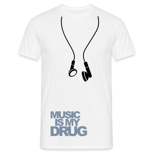 Music is my drog - T-shirt herr