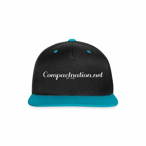 Cap Curved White - Kontrast Snapback Cap