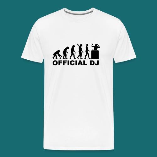 OFFICIAL DJ Premium T-Shirt Schwarz auf Weiß - Männer Premium T-Shirt