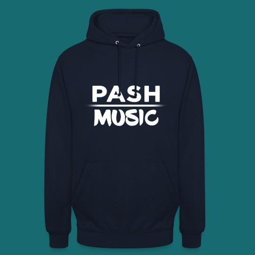 PASH MUSIC Premium Hoodie Weiß auf Navy - Unisex Hoodie