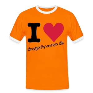 drageflyveren.dk I love orange t-shirt - Herre kontrast-T-shirt