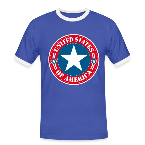 United States - T-shirt contrasté Homme