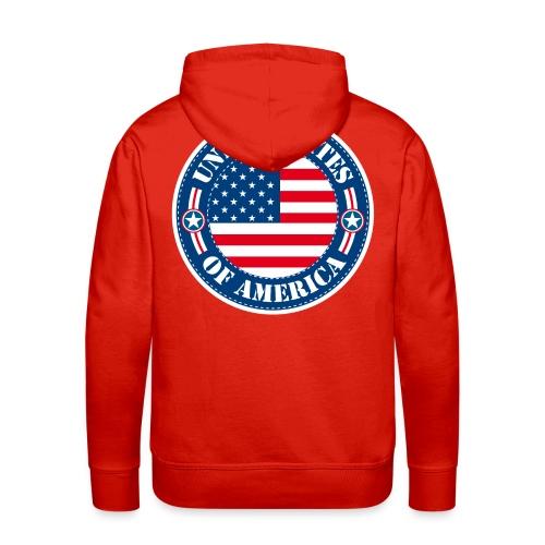 United States - Sweat-shirt à capuche Premium pour hommes