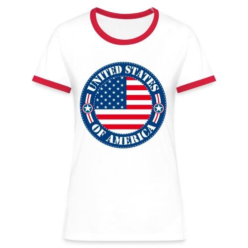 United States - T-shirt contrasté Femme