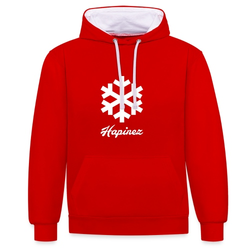 Snowflake - Kontrast-Hoodie