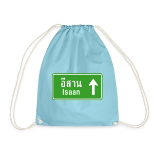 Isaan, Thailand / Highway Road Traffic Sign - Drawstring Bag