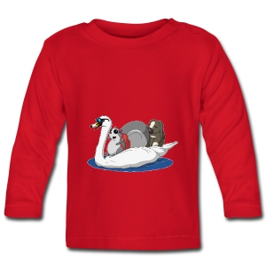 The Pudgy Squirrel and the Swan - Baby Long Sleeve T-Shirt