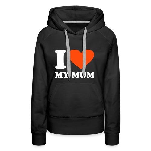 Women's Black Hoodie (iheartmymum) - Women's Premium Hoodie