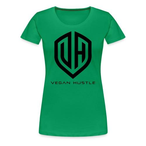 WOMEN'S VEGAN HUSTLE T-SHIRT (click for more colours) - Women's Premium T-Shirt