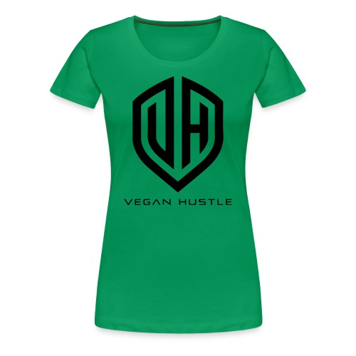WOMEN'S VEGAN HUSTLE T-SHIRT (click for more colours) - Women's Premium T-Shirt