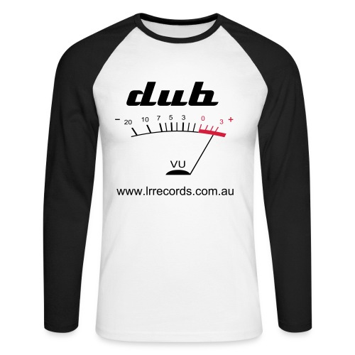 VU meter - dub - Men's Long Sleeve Baseball T-Shirt