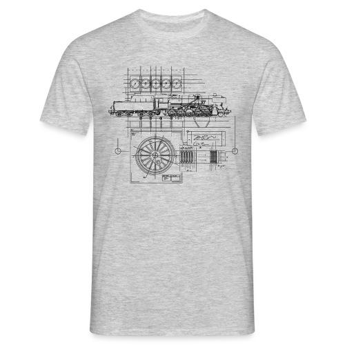 Technische Zeichnung, versch. Farben - Männer T-Shirt