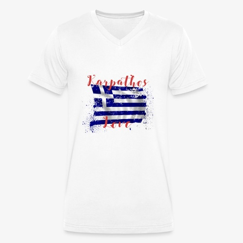KARPATHOS LOVE  - Männer Bio-T-Shirt mit V-Ausschnitt von Stanley & Stella