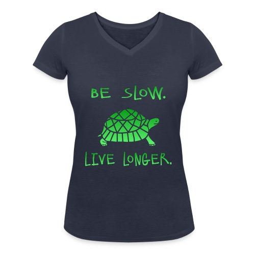 SLOW - Frauen Bio-T-Shirt mit V-Ausschnitt von Stanley & Stella