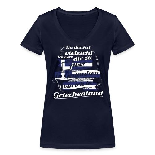 GRIECHENLAND - Frauen Bio-T-Shirt mit V-Ausschnitt von Stanley & Stella