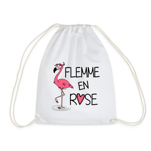 Sac de sport léger Flamant Rose / Flemme en Rose  - Sac de sport léger
