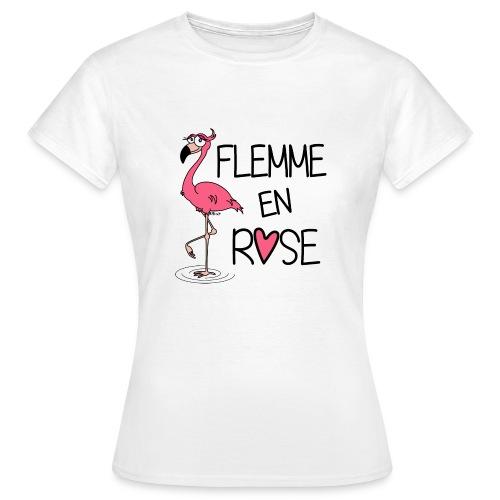 T-shirt BC Femme Flamant Rose / Flemme en Rose  - T-shirt Femme