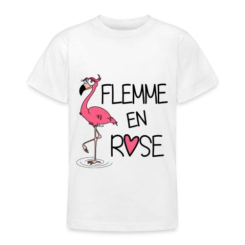 T-shirt BC Ado Flamant Rose / Flemme en Rose  - T-shirt Ado