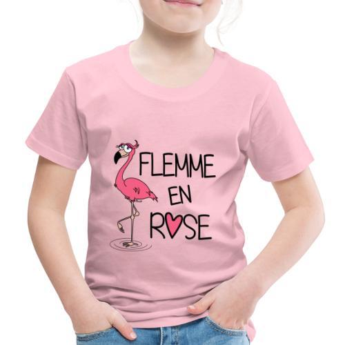 T-shirt P Enfant Flamant Rose / Flemme en Rose  - T-shirt Premium Enfant