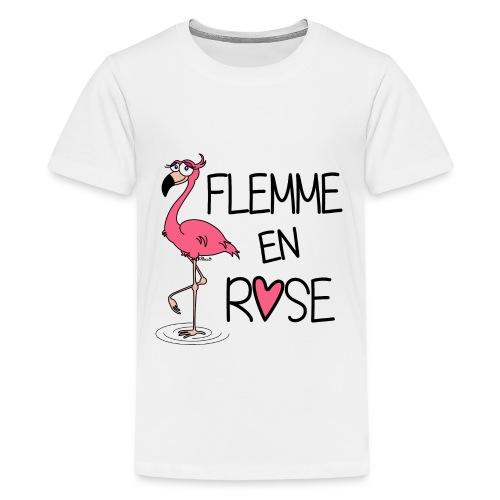 T-shirt P Ado Flamant Rose / Flemme en Rose  - T-shirt Premium Ado