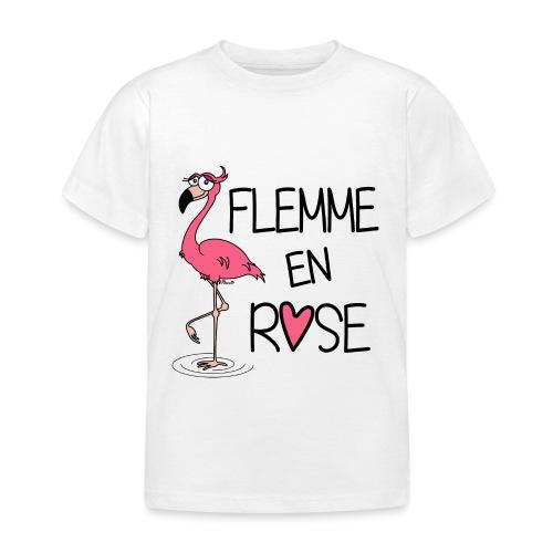 T-shirt BC Enfant Flamant Rose / Flemme en Rose  - T-shirt Enfant