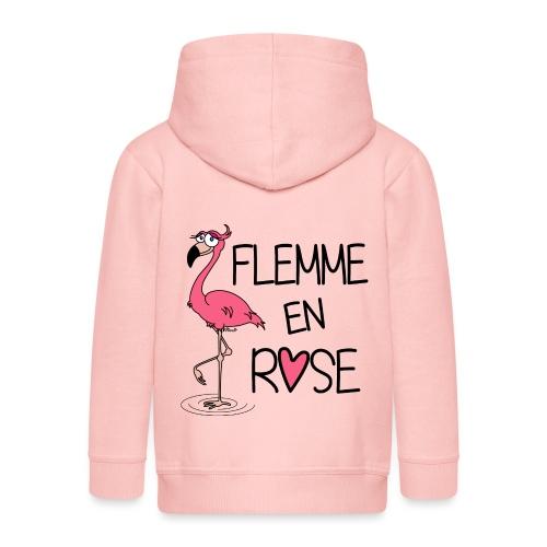 Veste Enfant Flamant Rose / Flemme en Rose  - Veste à capuche Premium Enfant