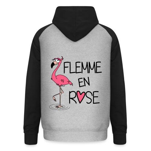Veste Unisexe Flamant Rose / Flemme en Rose  - Sweat-shirt baseball unisexe