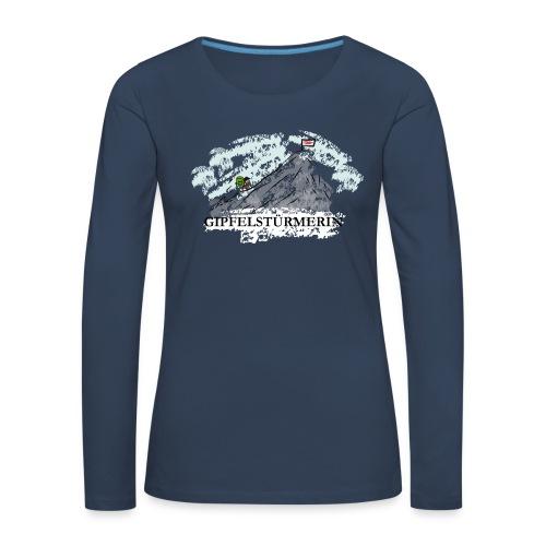 Frauen Langarmshirt: Gipfelstürmerin - Frauen Premium Langarmshirt