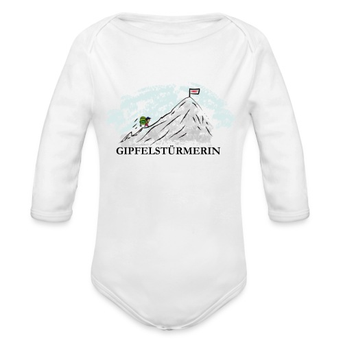 Baby Bio Body: Gipfelstürmerin - Baby Bio-Langarm-Body