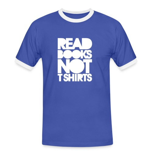 Book Blue T - Men's Ringer Shirt