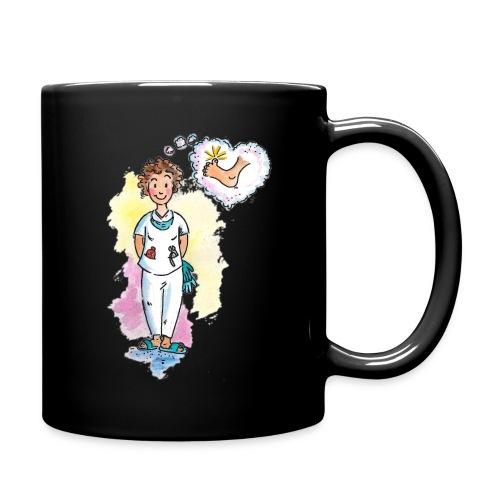 Kaffeebecher, schwarz - Tasse einfarbig