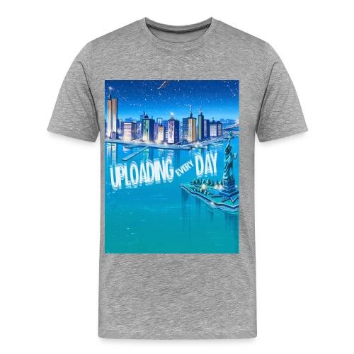 UPLOADING EVERYDAY GREY T-Shirt - MEN - Men's Premium T-Shirt