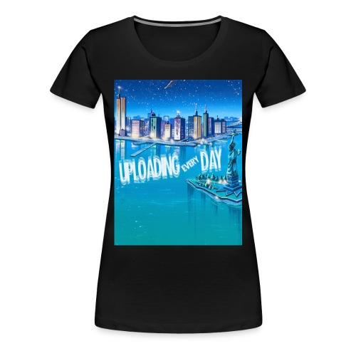 UPLOADING EVERYDAY BLACK T-Shirt - WOMAN - Women's Premium T-Shirt