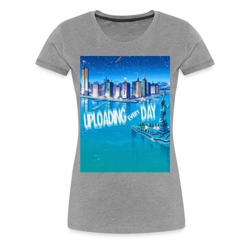 UPLOADING EVERYDAY GREY T-Shirt - WOMAN - Women's Premium T-Shirt