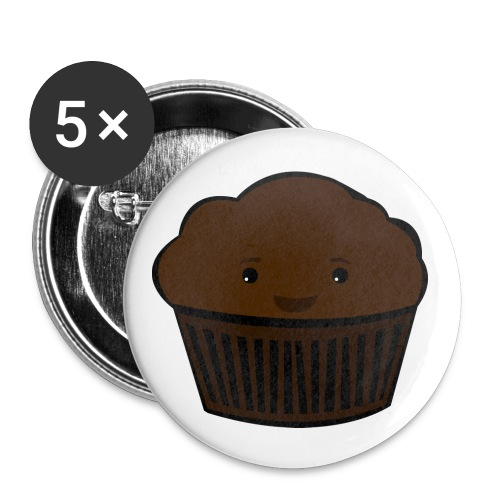Happy Muffin Badges - Buttons small 1''/25 mm (5-pack)