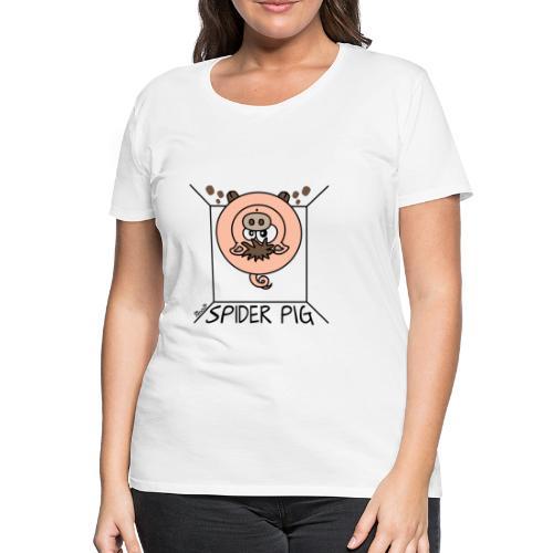 T-shirt P Femme Spider-Pig, Cartoon (Song) - T-shirt Premium Femme