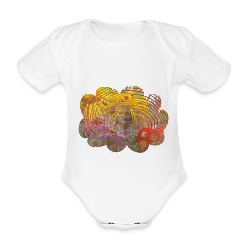 Sparkedragt, Angel Cloud - Kortærmet babybody, økologisk bomuld