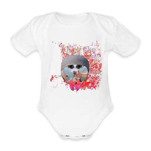 Sparkedragt, I like the flowers - Kortærmet babybody, økologisk bomuld