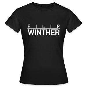 T-shirt vit text DAM - T-shirt dam