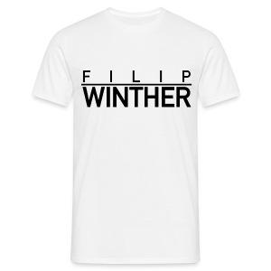 T-shirt svart text HERR - T-shirt herr