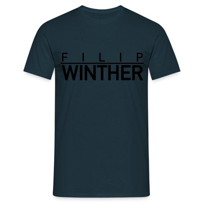 T-shirt svart text HERR
