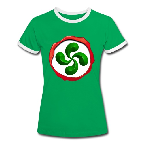 Basque Cross Lauburu - T-shirt contrasté Femme