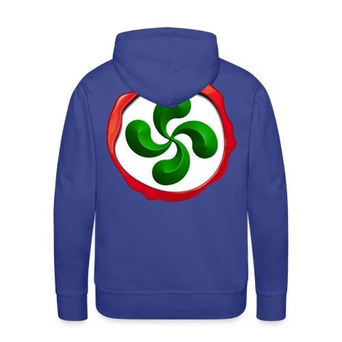 Basque Cross Lauburu - Sweat-shirt à capuche Premium pour hommes