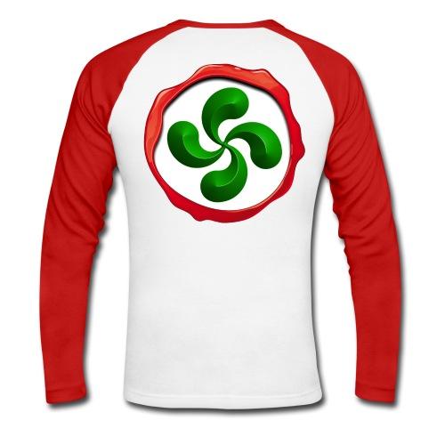 Basque Cross Lauburu - T-shirt baseball manches longues Homme