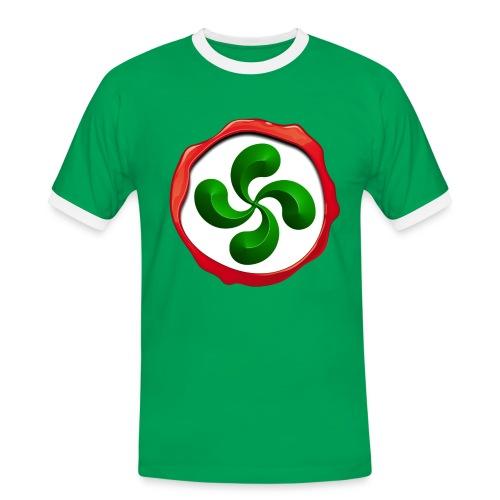 Basque Cross Lauburu - T-shirt contrasté Homme